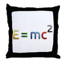 Einstein E=mc2 Throw Pillow
