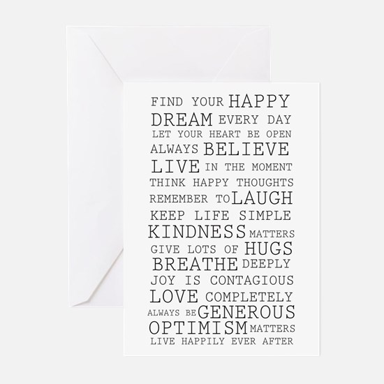 Positive Thoughts Greeting Cards (Pk of 20)