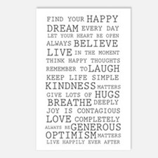 Positive Thoughts Postcards (Package of 8)