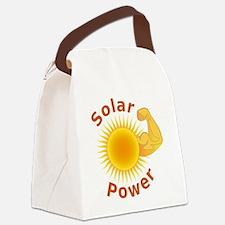 Solar Power Strong Arm Canvas Lunch Bag