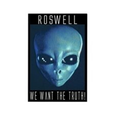 """Roswell"" Rectangle Magnet"