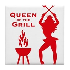 Queen Of The Grill (Barbecue) Tile Coaster