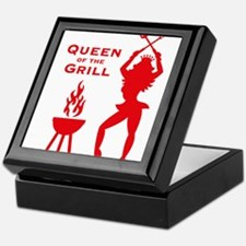 Queen Of The Grill (Barbecue) Keepsake Box