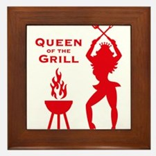 Queen Of The Grill (Barbecue) Framed Tile