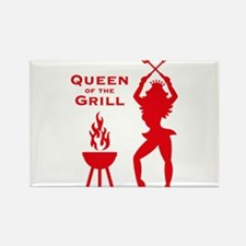 Queen Of The Grill (Barbecue) Rectangle Magnet