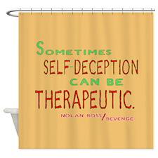 Revenge Self-Deception Quote Shower Curtain