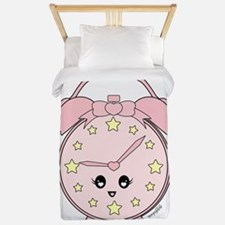 Cute Pink Alarm Clock Twin Duvet