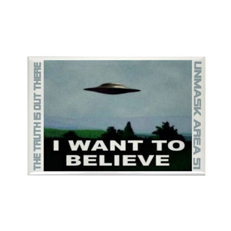 """""""UFO"""" Rectangle Magnet (10 pack)"""