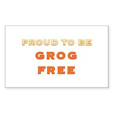 Proud to be grog free - new design Decal