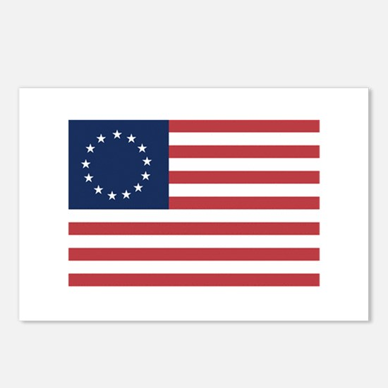 13 Star Colonial American Flag Postcards (Package