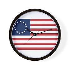 13 Star Colonial American Flag Wall Clock