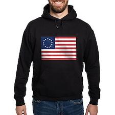 13 Star Colonial American Flag Hoodie