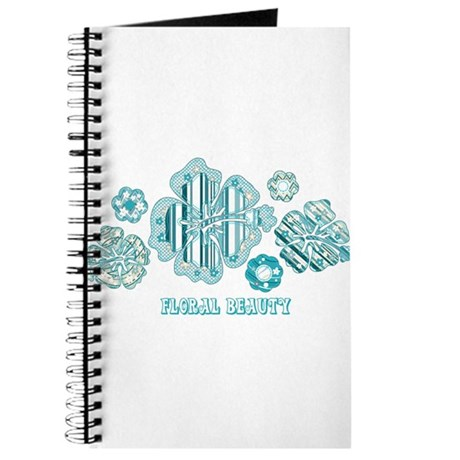 Floral beauty turquoise Journal