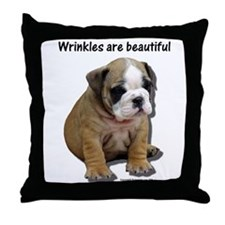 Wrinkles Are Beautiful II Throw Pillow
