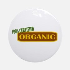 100% Certified Organic Ornament (Round)
