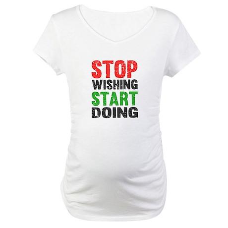 Stop Wishing Start Doing | Retro | Fitness Slogan