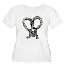 loveknot_tr.png Plus Size T-Shirt