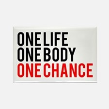 One Life One Body One Chance | Fitness Slogan Rect