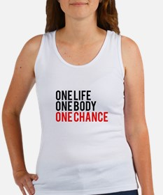 One Life One Body One Chance | Fitness Slogan Tank