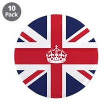 "Royal British Flag 3.5"" Button (10 pack)"