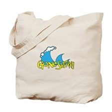 Gone Surfing | Surf and Beach Slogan Tote Bag