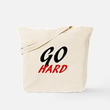 Go Hard | Fitness and Bodybuilding Slogan Tote Bag