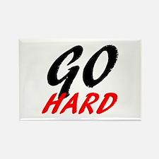 Go Hard   Fitness and Bodybuilding Slogan Rectangl