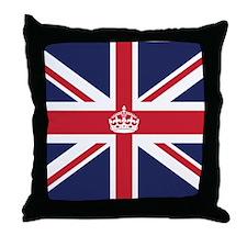 Royal British Flag Throw Pillow