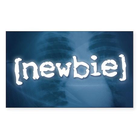 """Newbie"" Rectangle Sticker"