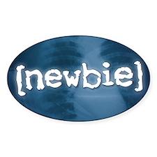 """""""Newbie"""" Oval Decal"""