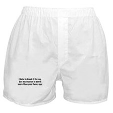 My tractor (black text) Boxer Shorts
