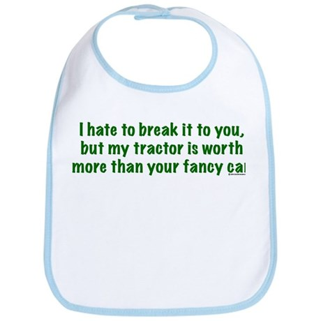 My tractor (green text) Bib