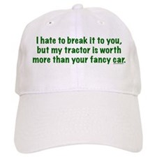 My tractor (green text) Baseball Cap