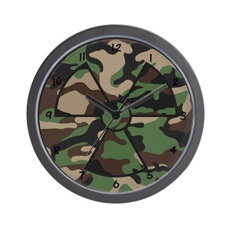 XRay Wall Clock - Camo with Black Numbers