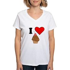 I Heart Chocolate Cherry Cupcake T-Shirt