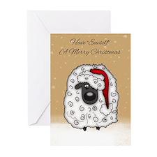 Cartoon Sheep Christmas Greeting Cards (Pk of 20)