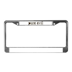 Pure Evil License Plate Frame