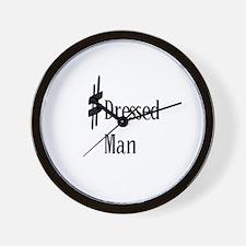 Sharp Dressed Musician Man Wall Clock