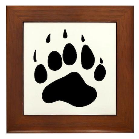 Bear Claw Framed Tile