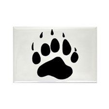 Bear Claw Rectangle Magnet