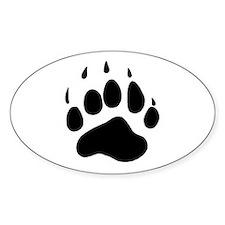 Bear Claw Oval Decal