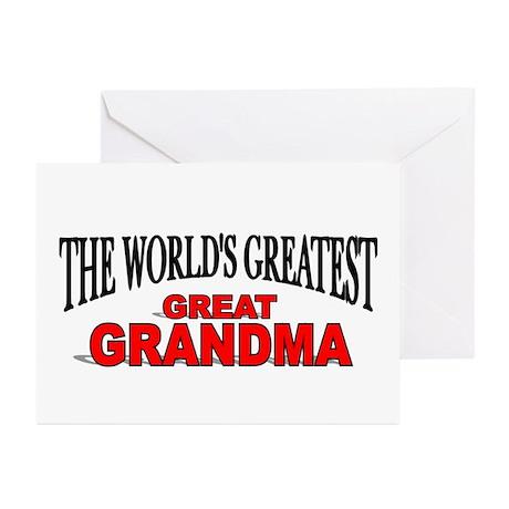 """The World's Greatest Great Grandma"" Greeting Card"