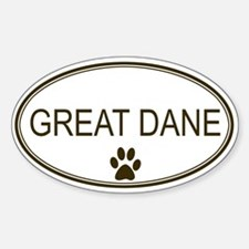 Oval Great Dane Oval Decal