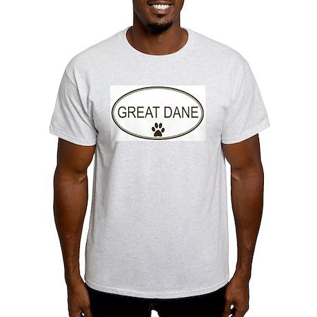 Oval Great Dane Ash Grey T-Shirt