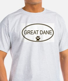 Oval Great Dane Ash Grey T-Shirt