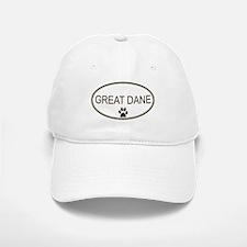 Oval Great Dane Baseball Baseball Cap