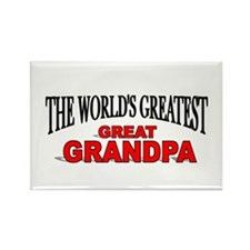 """""""The World's Greatest Great Grandpa"""" Rectangle Mag"""