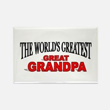"""The World's Greatest Great Grandpa"" Rectangle Mag"
