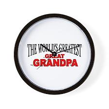 """The World's Greatest Great Grandpa"" Wall Clock"