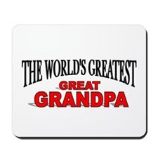 """The World's Greatest Great Grandpa"" Mousepad"